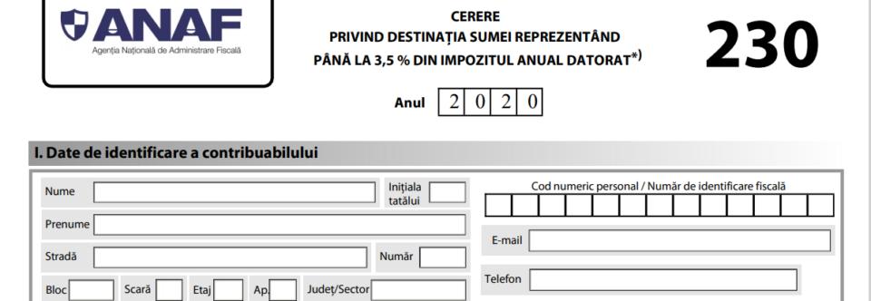 Formular 230 – 2020
